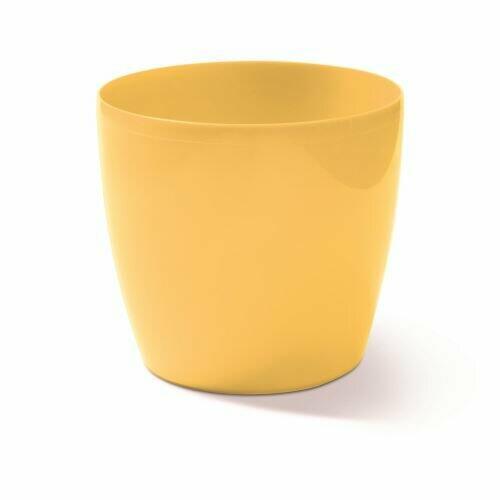 Květináč COUBI kulatý sv.žlutý 9cm