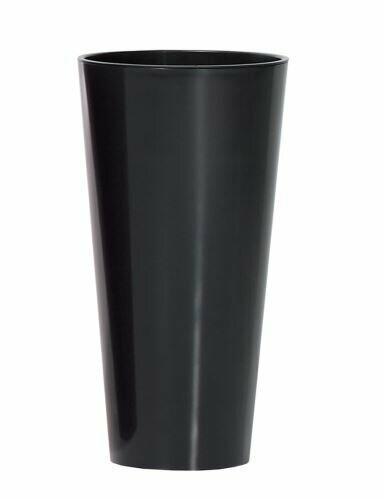 Květináč TUBUS SLIM + vklad antracit lesk 20cm
