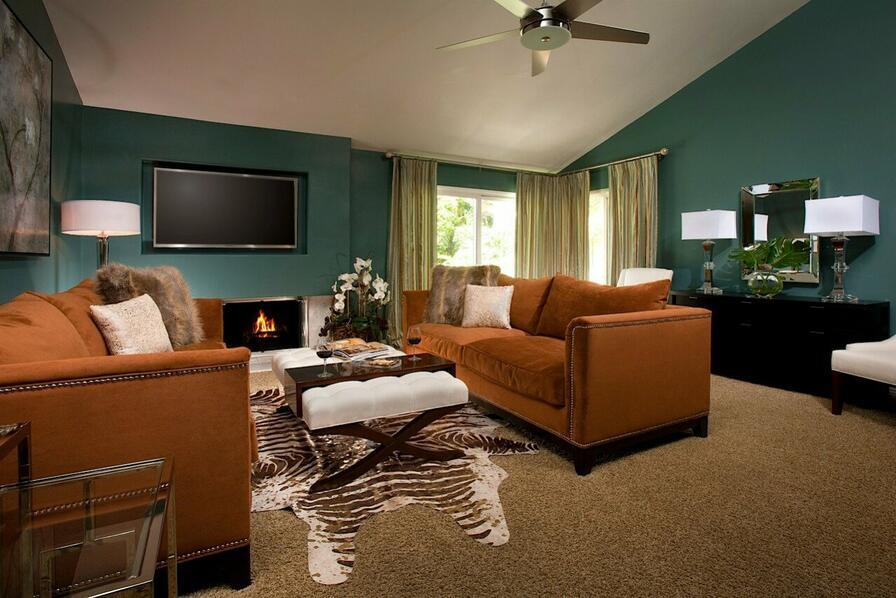 Originálna obývacia izba.