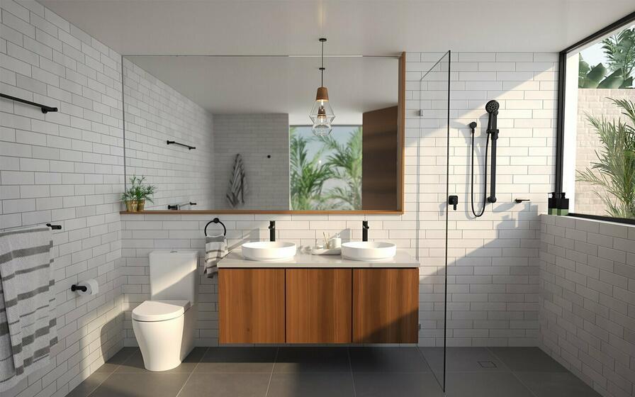 Sprchovací kút môže vyzerať aj takto štýlovo.