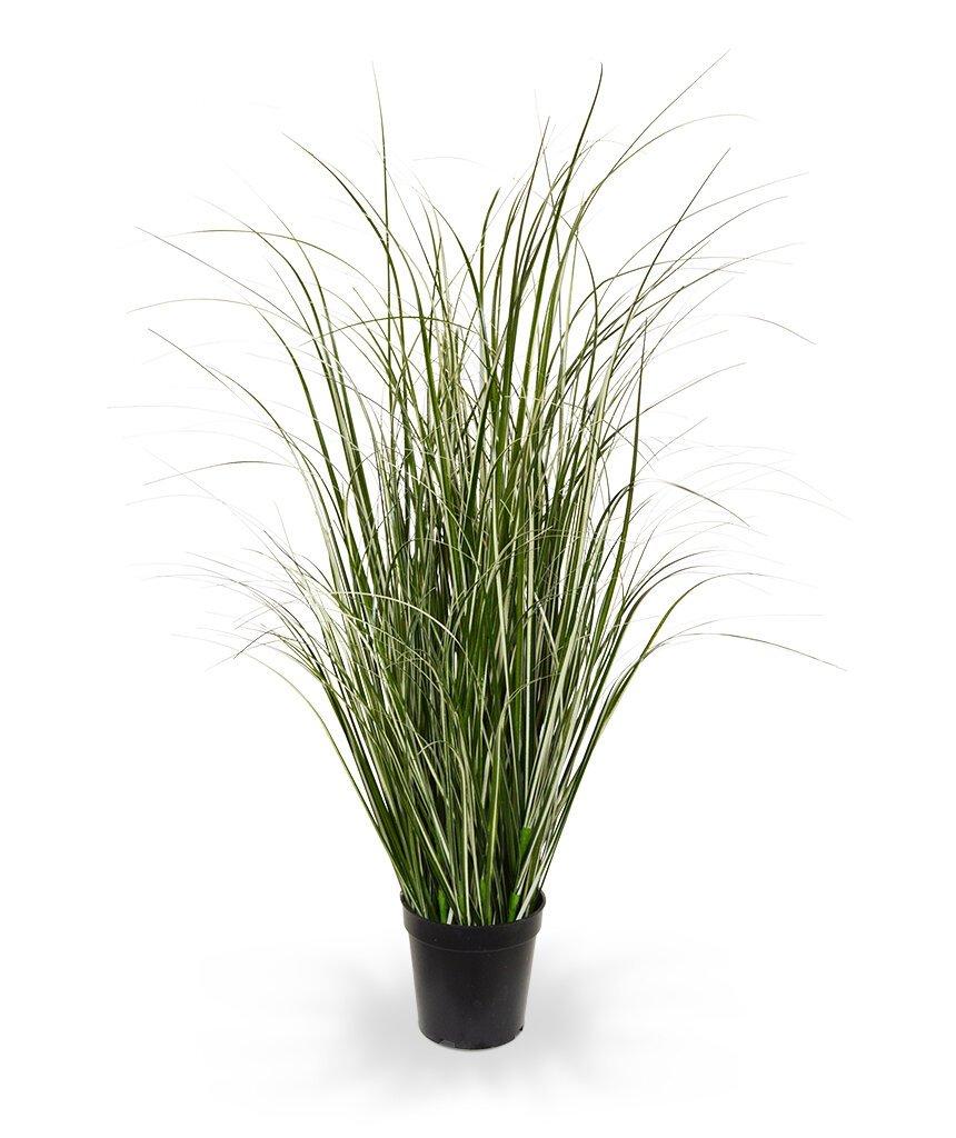 Umělá zeleno krémová tráva 80 cm