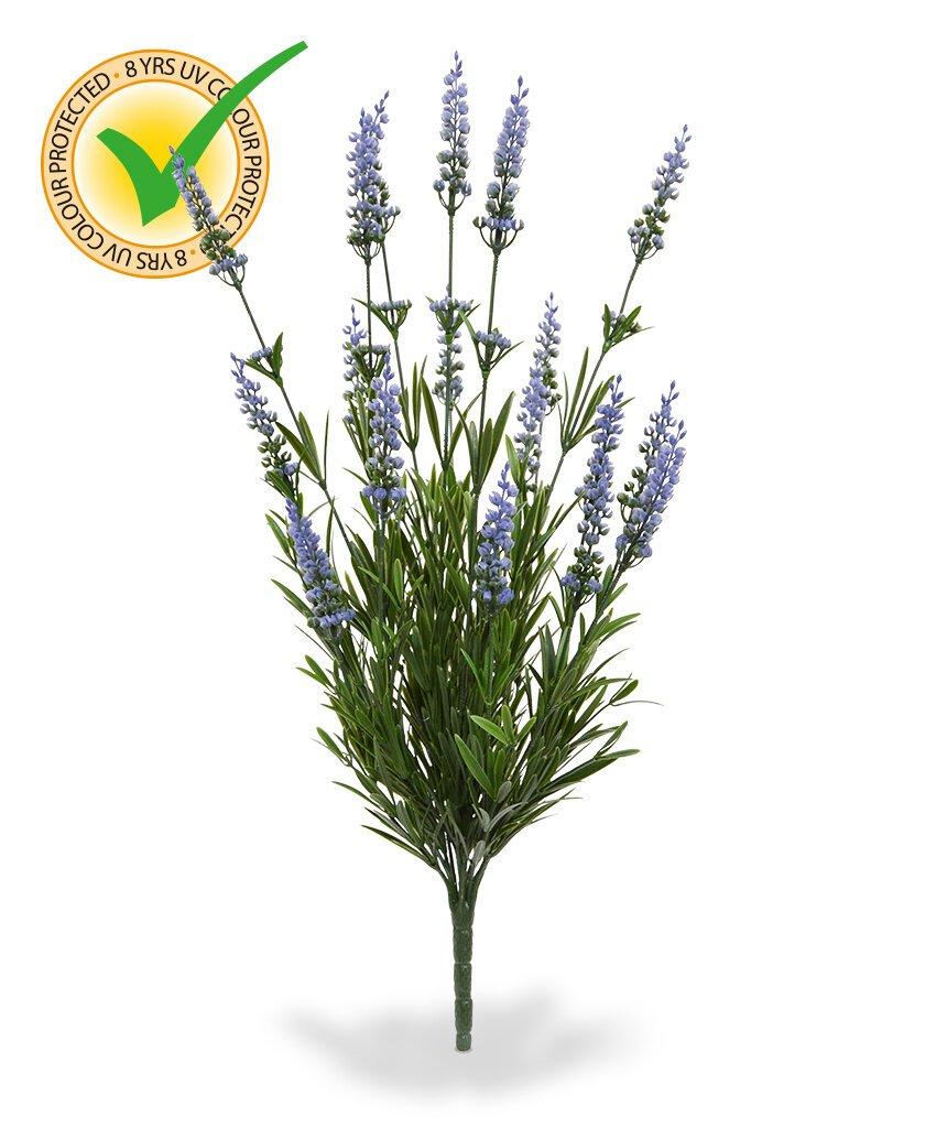 Umělá modrá květina Levandule 50 cm