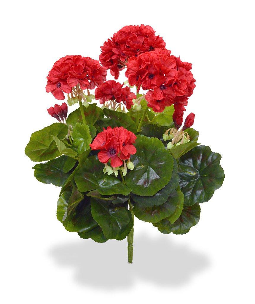 Umelá červená rastlina Geranium 40 cm