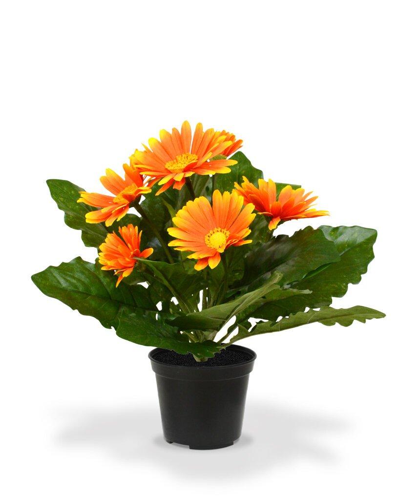 Umelá rastlina Gerbera 30 cm oranžová
