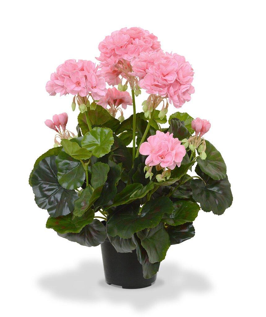 Umělá rostlina Geranium 40 cm - růžová