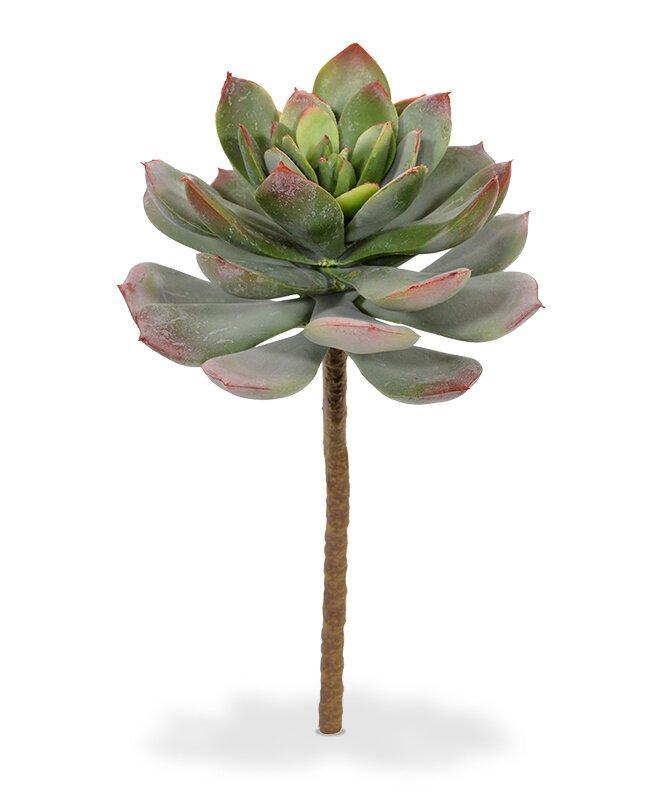 Umělá kytice Echeveria 25 cm zeleno-červená