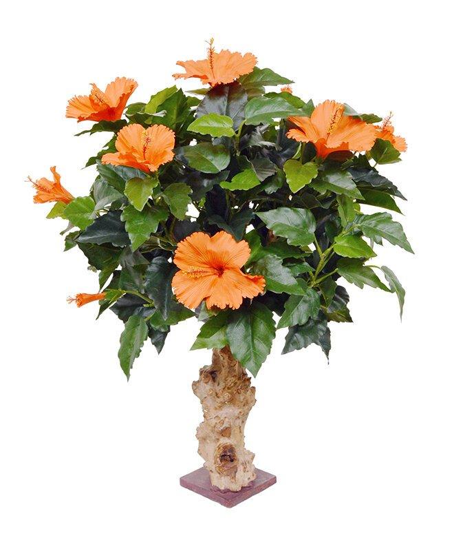 Umelá rastlina Ibištek 65 cm oranžová