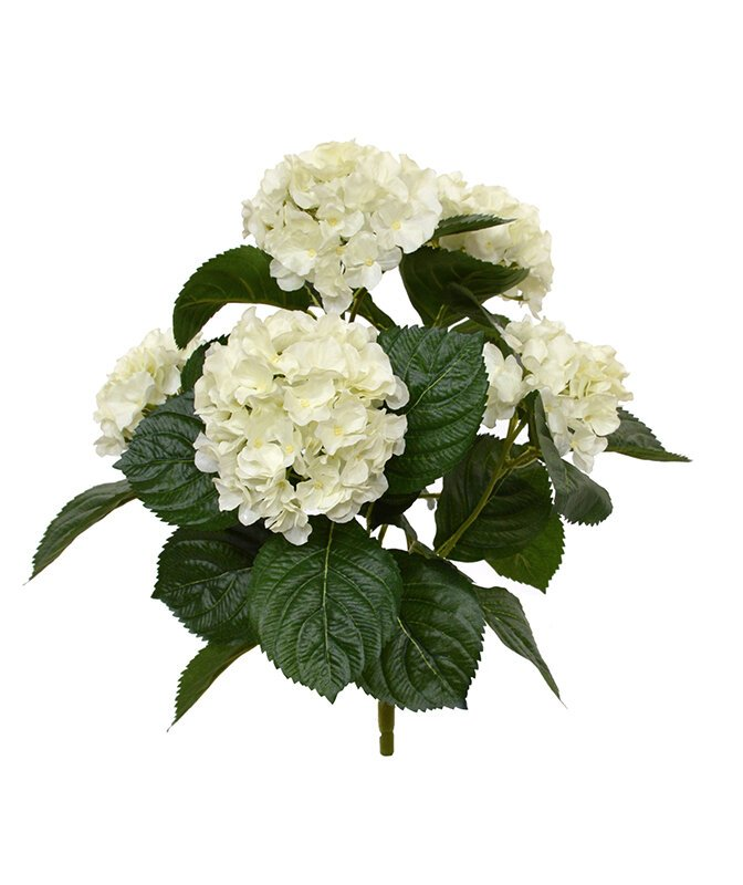 Umelá rastlina Hortensia 40 cm - krémová