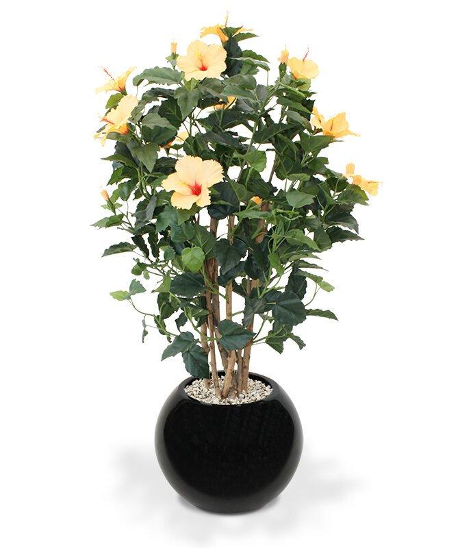 Umelá rastlina Ibištek Deluxe 100 cm - svetlo oranžový