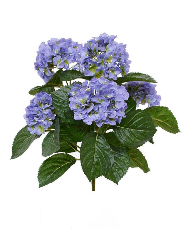 Umelá rastlina Hortensia 40 cm - modrá