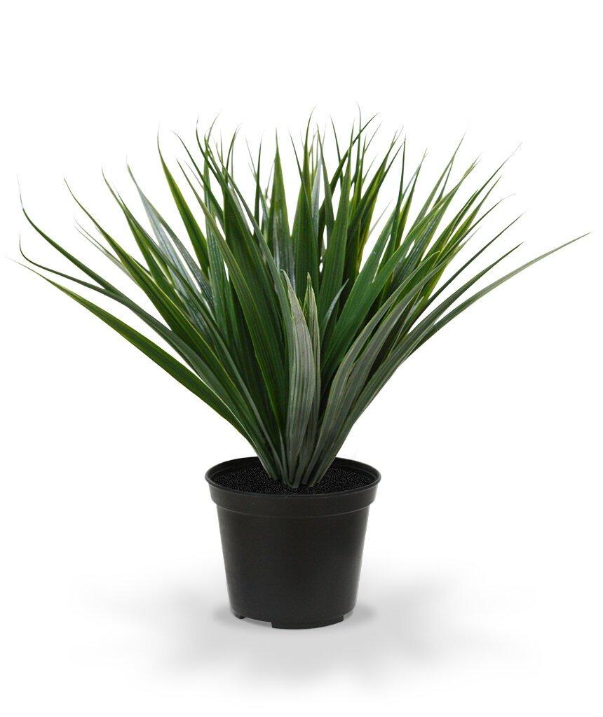 Umelá rastlina Bambus 25 cm v kvetináči - tmavo zelená