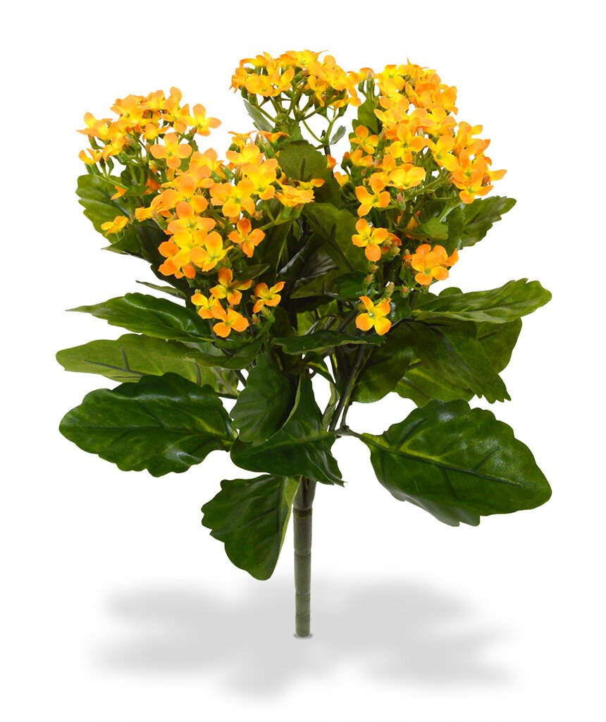 Umělá rostlina Kalanchoe 30 cm - oranžová