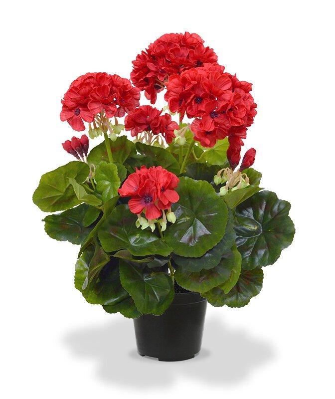 Umelá červená Geranium 40 cm