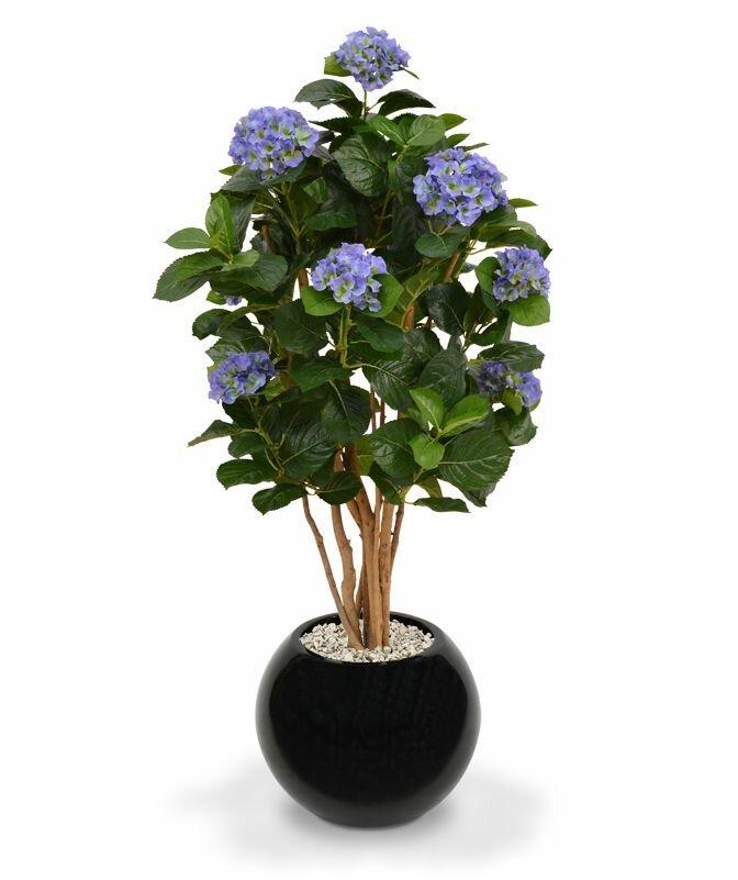 Umelá modrá Hortenzia 110 cm