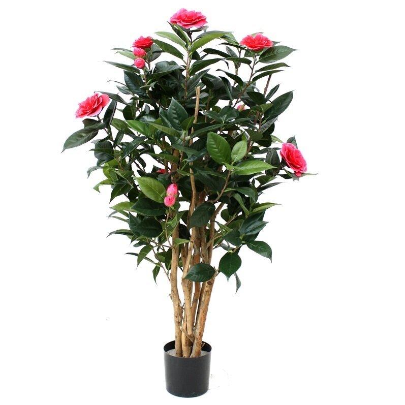 Umelá rastlina Camelia Deluxe 100 cm - ružová