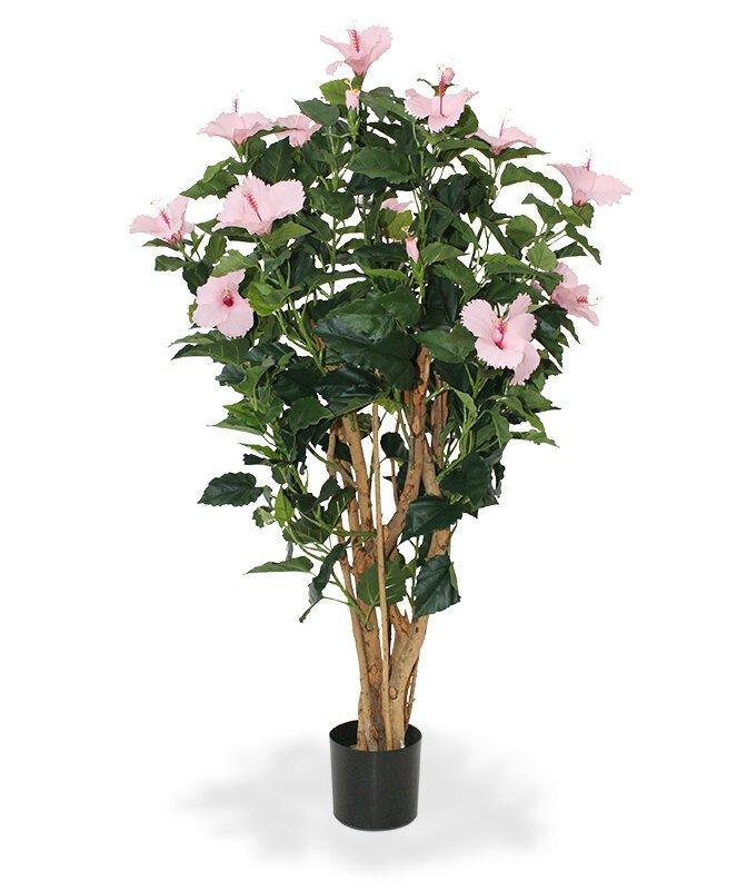 Umělá rostlina Ibišek 100 cm - růžová