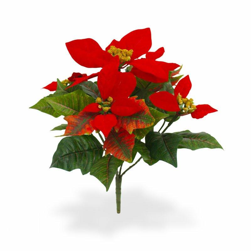 Červená vianočná ruža 25 cm