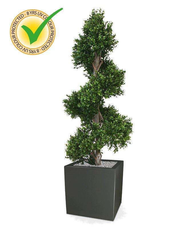 Umělý spirálovitý buxusový strom 140 cm