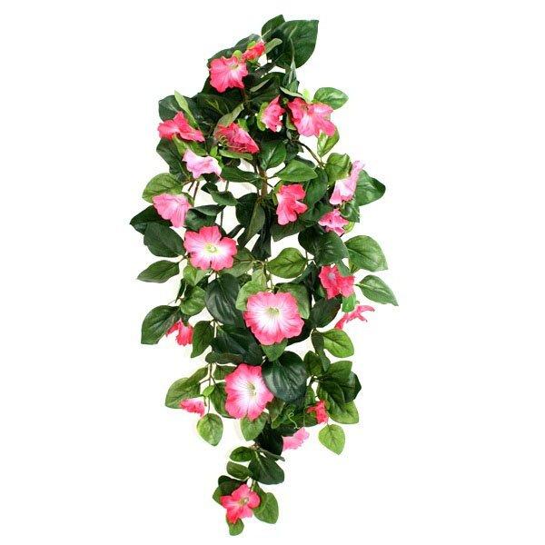 Umelá závesná Petunia Deluxe 80cm - ružová