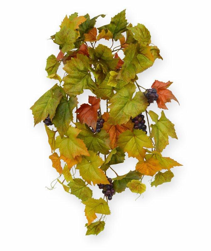 Umelá závesná rastlina Hrozno 75 cm