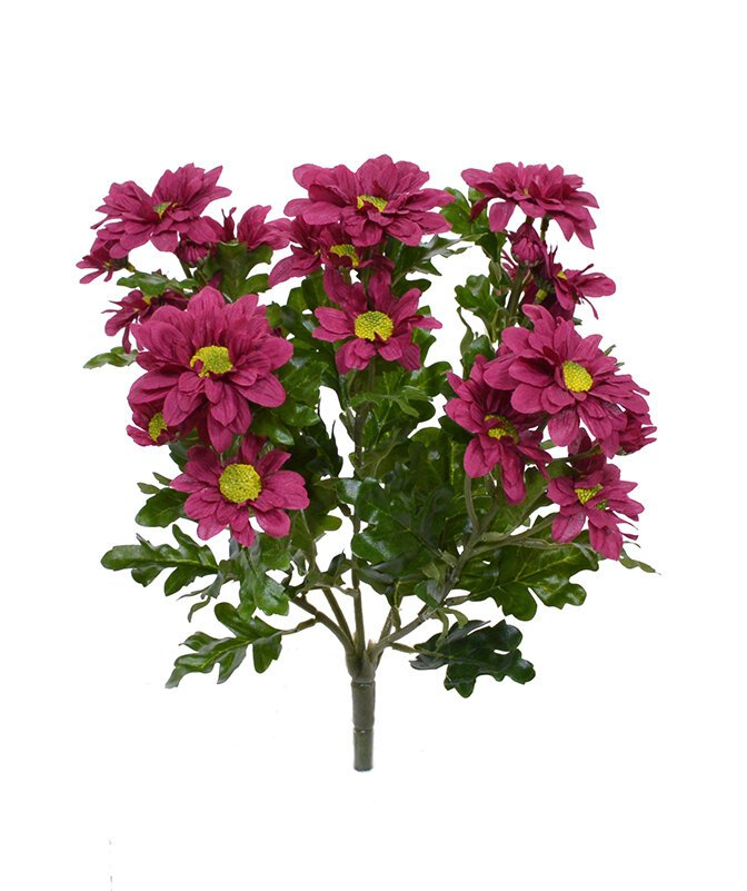 Umelá rastlina Chryzantéma 35 cm - červeno bordová