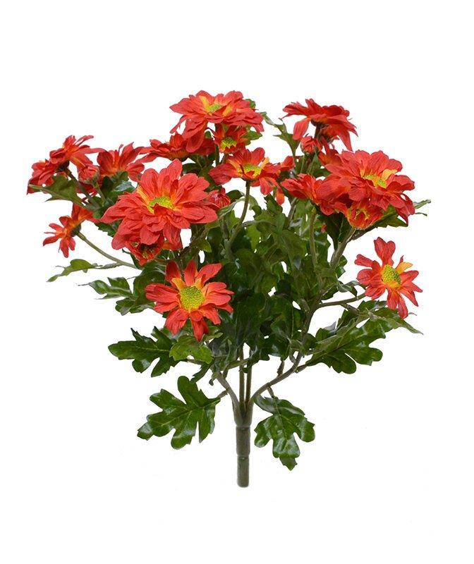 Umělá rostlina Chryzantéma 35 cm - oranžová