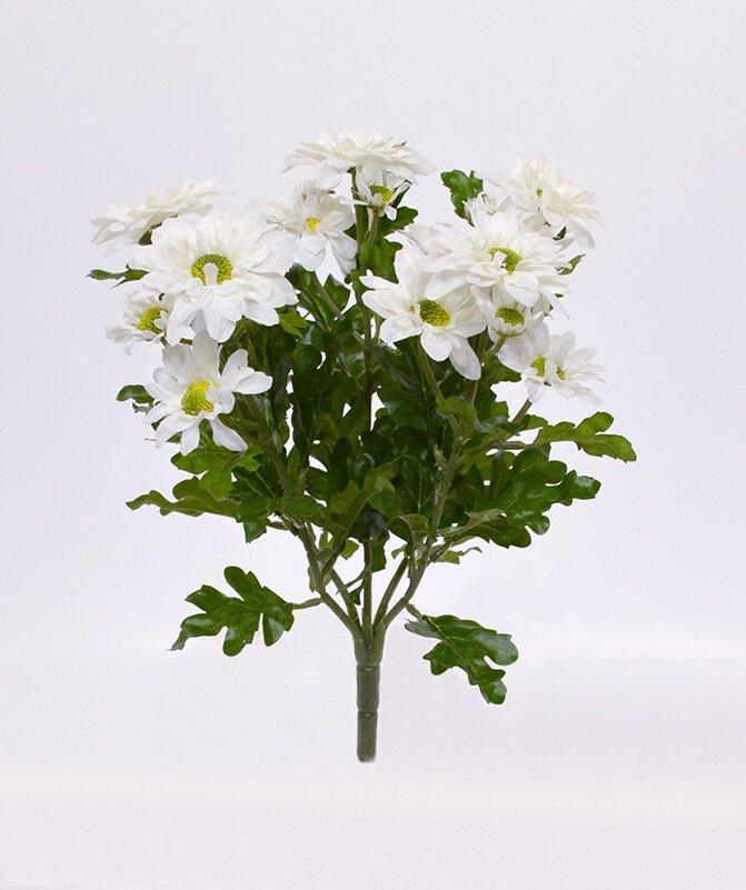 Umelá rastlina Chryzantéma 35 cm - krémová