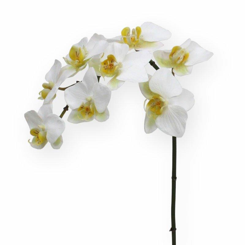 Umělá bílá květina Phalaenopsis 80 cm