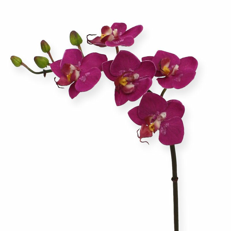 Umelá Orchidea Mini Phalaenopsis 50 cm - fialová