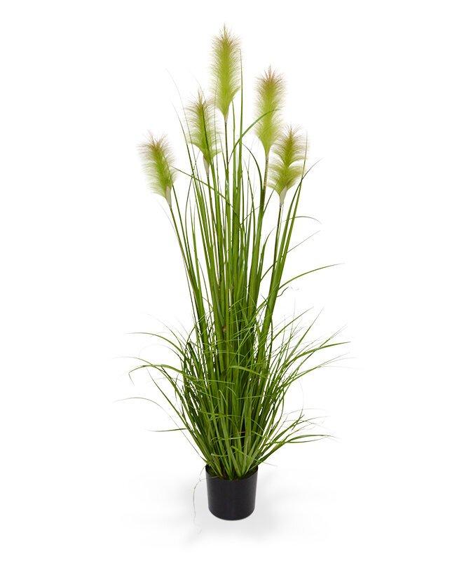 Umělý svazek trávy tráva Třtina v květináči 150 cm