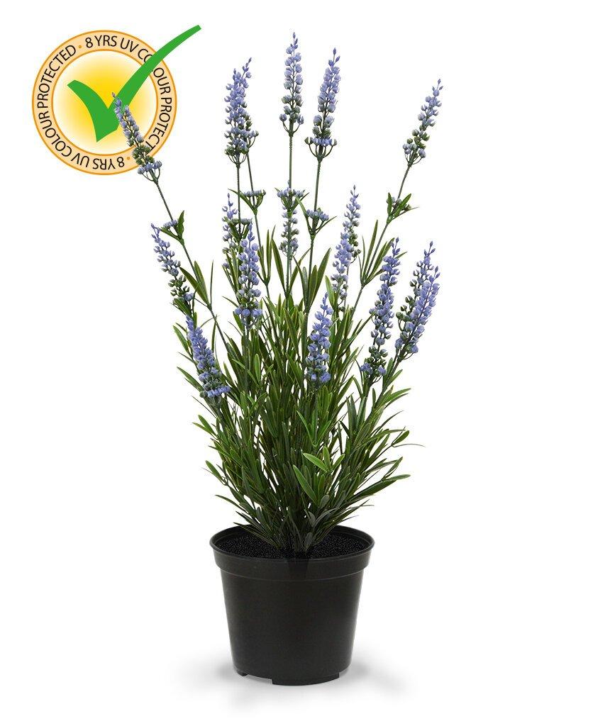 Umělá modrá rostlina Levandule 50 cm