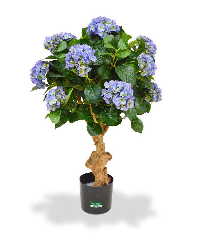 Umělá modrá Hortenzie 90 cm