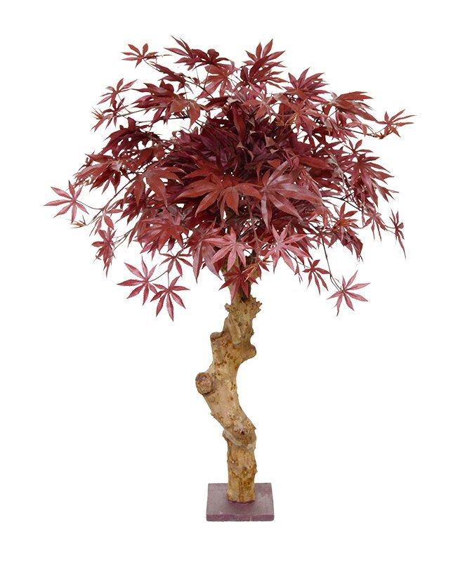 Umelý strom Bonsai Acer 85 cm - bordovo červený