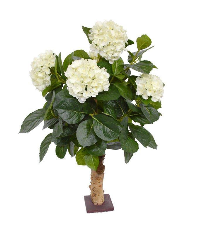Umelá Hortenzia krémová 65 cm