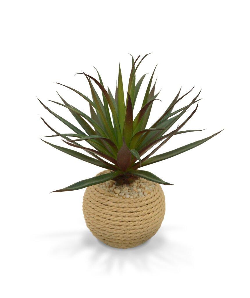 Umělá rostlina Margin v květináči z přírodního materiálu