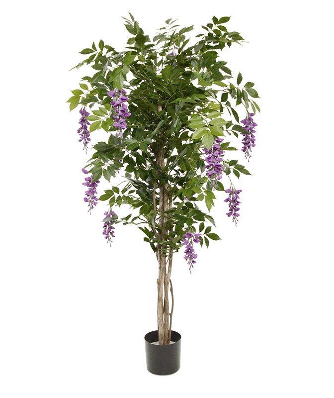 Umělý strom Wisteria 150 cm - fialová