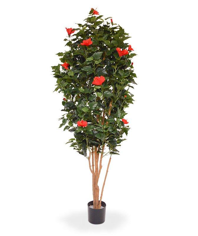 Umelý strom Ibištek 175 cm - červený