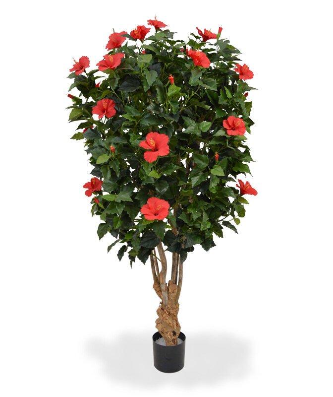 Červený Ibištek umelý 170 cm