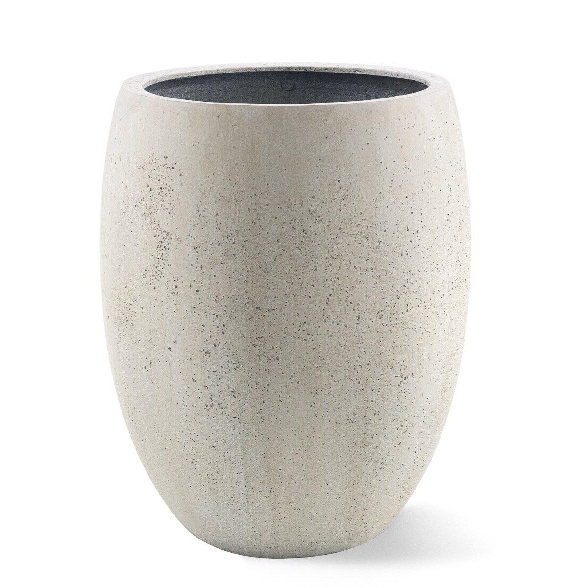 Plastový květináč vzhledu beton 40 x 40 x 68 cm