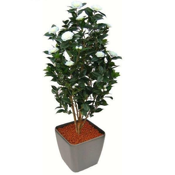 Umělý strom Camelia Japonica Deluxe 150cm - krémová