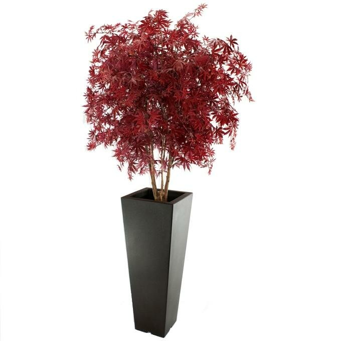 Umelý strom Javor Deluxe 165 cm vínová farba