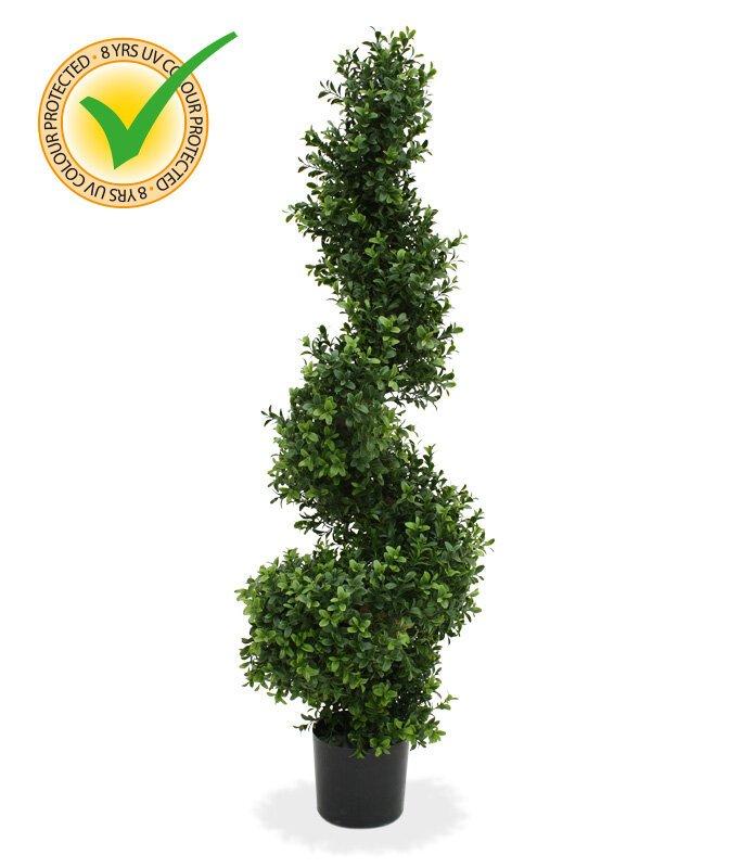 Umělý spirálovitý buxusový strom 100 cm
