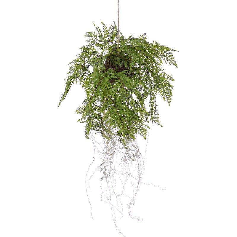 Umelá závesná rastlina Fern na lane 35 cm