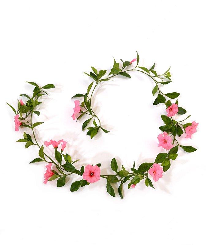 Umělá girlanda Petunia Deluxe 180 cm - růžová