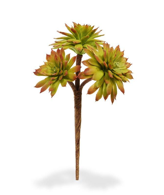 Umělá větev Mini Echeveria 17 cm