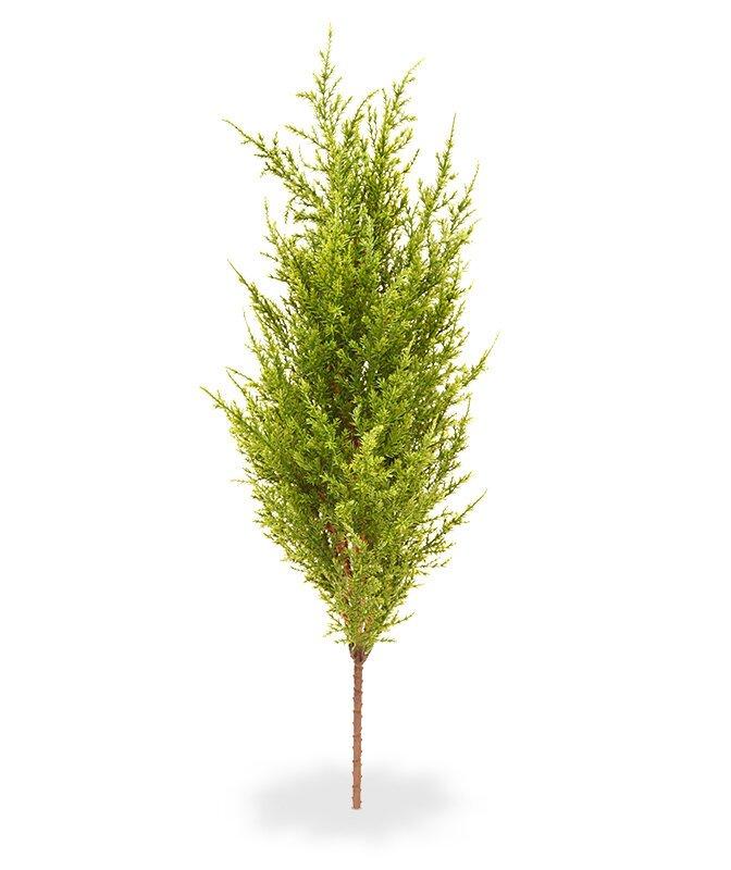 Umelá vetva Cyprus zelenožltá 56 cm