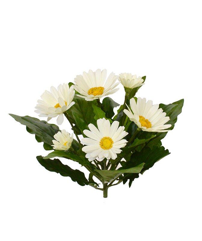 Umelá rastlina Gerbera 30 cm - krémová
