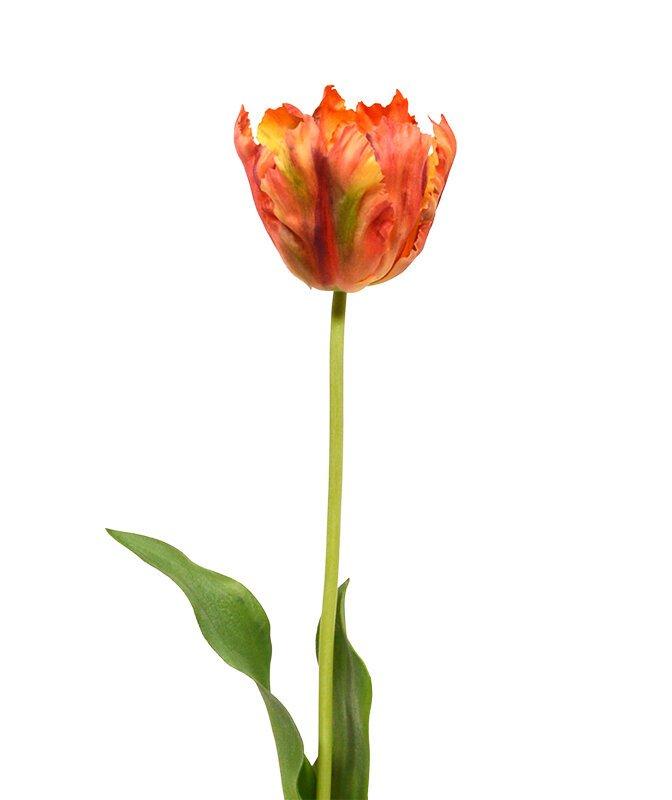 Umělá větev Tulipán 70 cm - oranžový