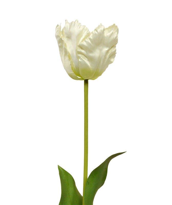 Umelá vetva Tulipán 70 cm - krémový