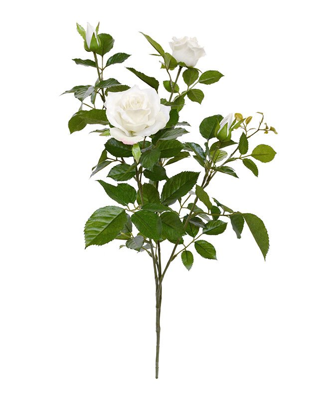 Umelá vetva Ruža Deluxe 70 cm - krémová